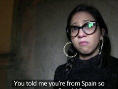 Real chupar chica española creampied. Real chupar chica española creampied después follando a un desconocido por dinero en efectivo