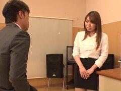 Fabulosa japonesa puta Iroha Suzumura en JAV increíble sin censura video de trabajo de pie,