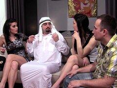 Esclavo de esposo Árabe Árabe amante cornudos