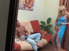 Bridget madura rusa con joven