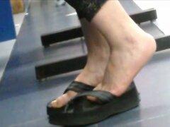 mexicana regordetes dedos de los pies en sandalias