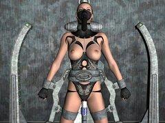 Animación 3D: invasión alienígena, animación 3D de ciencia ficción del mundo 3D XXX loco!